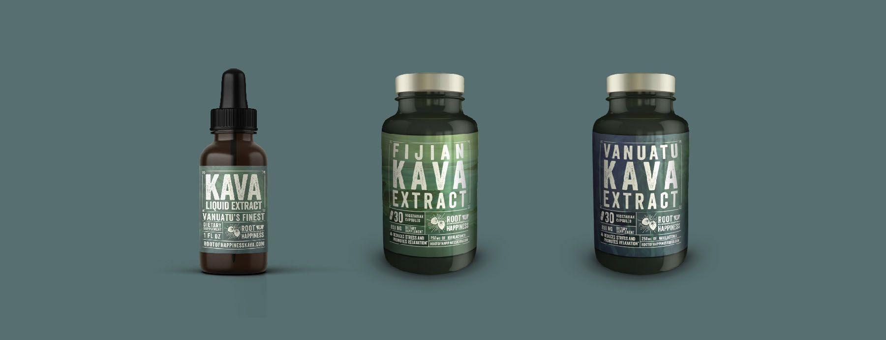 kava branding logo design beverage packaging