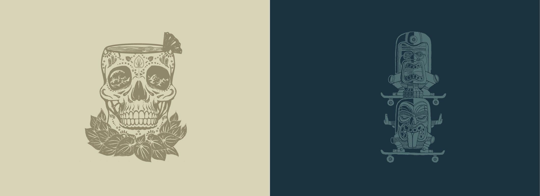 kava branding design sacramento illustration