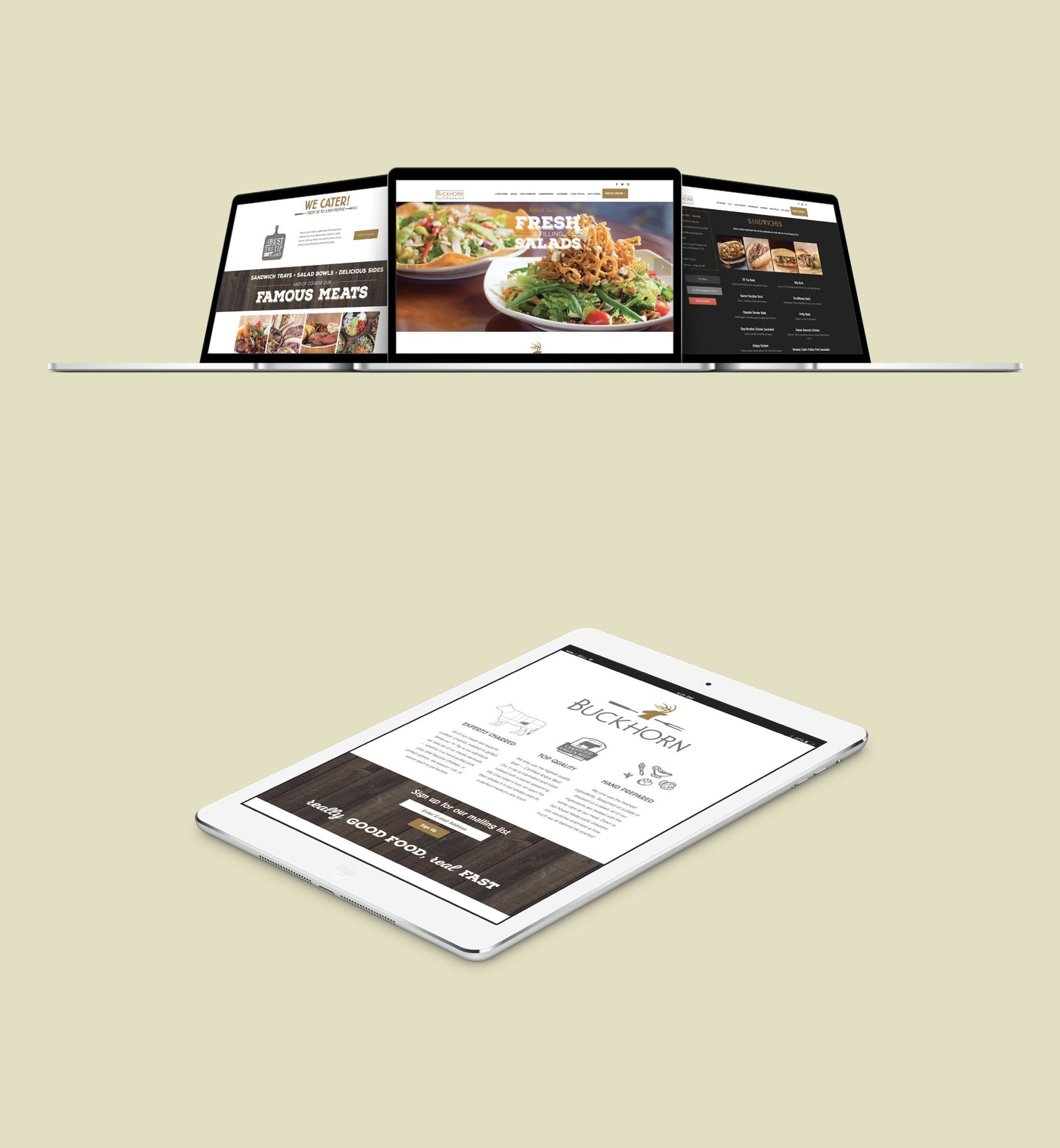 custom website design restaurants sacramento